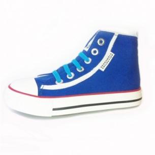Blåa sneakers