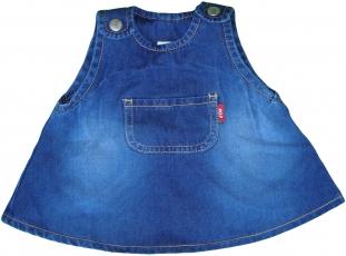 Blå jeansklänning