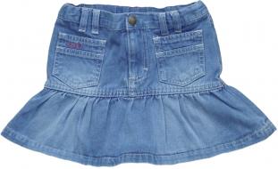 Blå jeanskjol